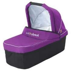 Out n About Nipper Carrycot, Purple Punch, £82 delivered at Tesco Direct or £85 with XL carrycot raincover