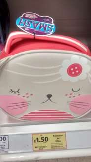 Smash Lunch Gear Button Cat Lunch bag now £1.50 from £6 @ Tesco.