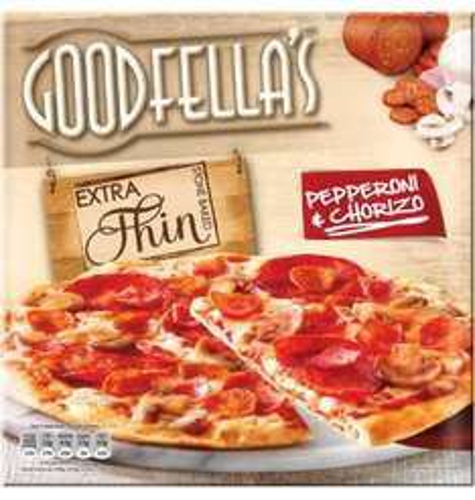 Goodfella's Extra Thin Chorizo & Pepperoni Pizza - 80p via Shopitize app. £1.25 @ Morrisons (inc Mozzarella & Pesto; Vegetable & Goats Cheese)...