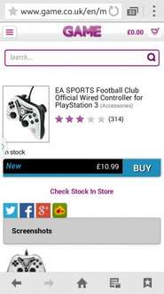 PS3 EA Sports Club Controller £10.99 @ GAME!