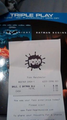 Batman Begins and The Dark Knight (DVD, BluRay and Ultraviolet) Box Set £3.00 @ Fopp