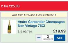Champagne £19.99 or 2 for £25 @ tesco!!