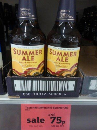 Sainsburys Taste the Difference Summer Ale 75p @ Sainsburys