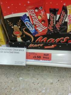 Sainsburys reduced to clear lots of chocolates, biscuits boxes - half price