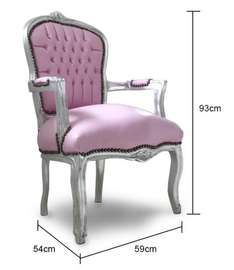 Silver and Pink / Red Cushioned Chair - £100 @ Out there Interiors