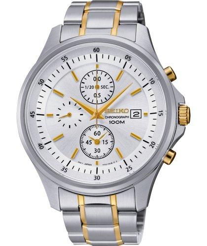 Seiko Men's Two-Tone White Dial Bracelet Watch SNDE23P1 £99.99 @ Argos
