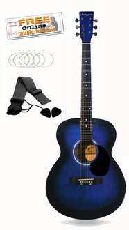 Martin Smith W-100 Acoutic Guitar Kit (Blue or Black) - Lightning Deals - Lowest Price Ever £34.99 @ Amazon