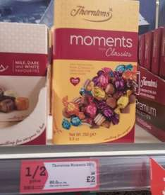 Thorntons Moments 250g reduced to £2 from £4 @Morrisons