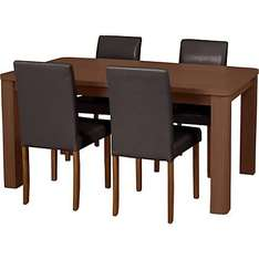 Various Swanley Tables and 4 Leather Effect Chairs - £127.99 - Argos or £102 @ Homebase