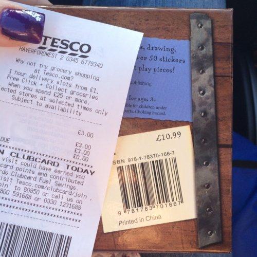 Kids pirate treasure chest activities £3 @ Tesco direct