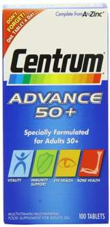 Centrum Advance 50 Plus - Pack of 100 usually over £12 now only £6.48 @ Amazon Lightning Deal