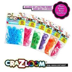 300  scented loom bands with 12 s clips and hook 1p at Toys R Us
