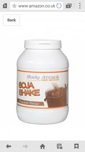 Body Attack Strawberry 750g Soja ShakeProtein powder £4.69 @ Amazon
