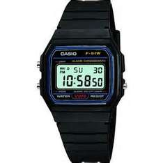 Casio Classic F-91W-1YER Mens Casual Water Resistant Digital Watch - Black £6.75 at 7dayshop.