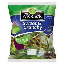 FLORETTE SWEET AND CRUNCHY SALAD LEAVES  TESCO Better Than Half Price Was £1.00 Now 49p