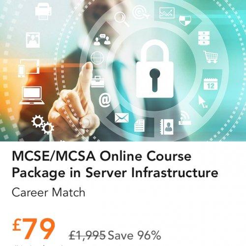 MCSE/MCSA Microsoft Windows Server 2012 Courses £79  @ Career Match Via Amazon Local