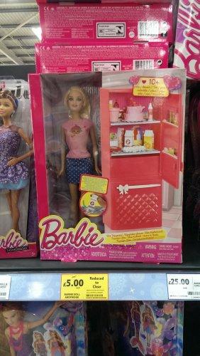 Barbie glam fridge and doll play set £5 - Tesco Instore