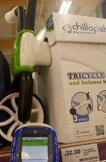 Chillafish tricycle £22.50 Tesco instore