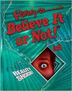 Ripley's Believe It or Not! 2015 (Annuals 2015) Hardcover NOW £5 @ Amazon   (free delivery £10 spend/prime)