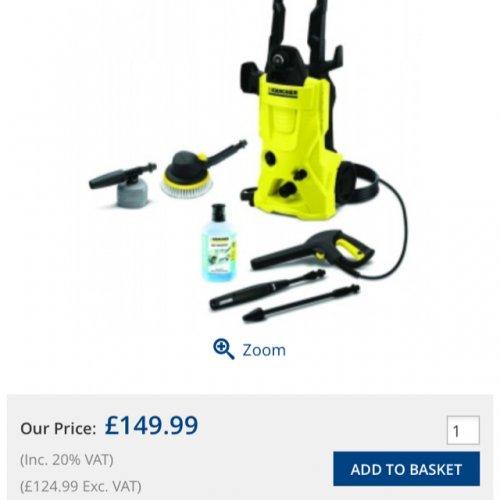 Karcher K4 Car Pressure Washer £150 @ Makro