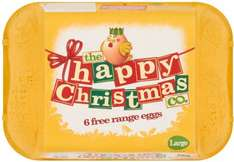The Happy Egg Co. (Happy Christmas) Free Range Large Eggs (6) ONLY 97p @ Asda