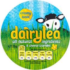 Dairylea Cheese or Light Cheese Triangles (8 per pack - 125g) ONLY 50p @ Asda