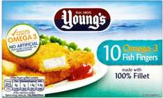 Young's Omega 3 Fish Fingers (10) (58% Alaskan Pollack) ONLY £1.00 @ Asda
