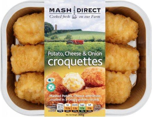 Mash Direct Potato, Cheese & Onion Croquettes (300g) ONLY 98p @ Asda