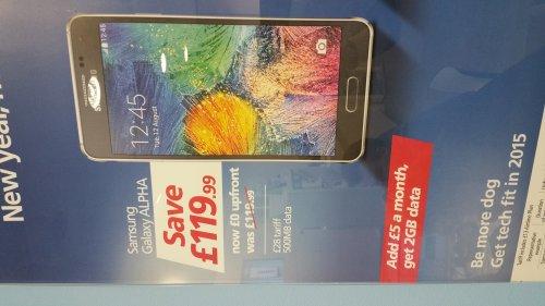 Samsung Galaxy Alpha From £28 pm @ o2