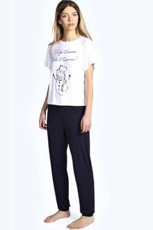 Boohoo.com  - NICKY SNOWMAN TSHIRT & JOGGER PJ SET £5.00 including next day delivery with code CELEBRATE if ordered before 8.00pm