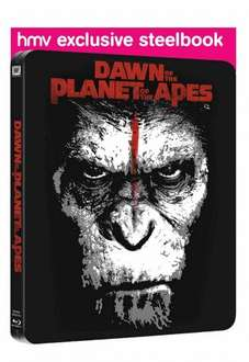 Dawn of the Planet of the Apes Hmv Exclusive Steelbook [Blu-ray 3D + Blu-ray + HD UV] £12.50 in 2 for £25 @ Hmv (£15.99 on its own)