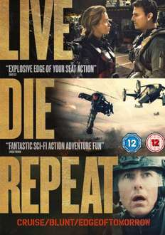 Live Die Repeat: Edge of Tomorrow [DVD] [2014]  £6.99  @ Amazon (free delivery £10 spend/prime)