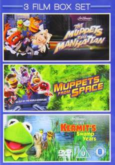 3 Film Box Set: Muppets Take Manhattan / Muppets From Space / Kermit's Swamp Years [DVD] £3.00 @ Amazon (Free delivery £10 spend/prime)