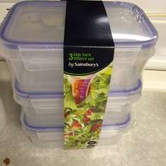 Rubber seal lunch boxes 3 for £4.00 (from £8) @ Sainsburys