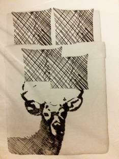 Deer kingsize duvet cover and four pillowcases - Solrok - £9 at Ikea