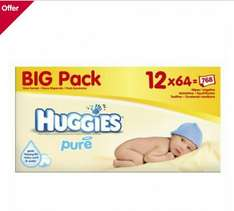 Huggies Pure Wipes 12 pack box £8 at Boots, or potentially £6.76 per box