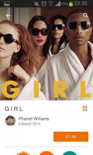 Pharrell Williams full album Girl £1.99 @ Google play store
