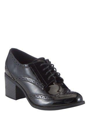 F&F Patent Block Heel Brogues was £20 Now £5