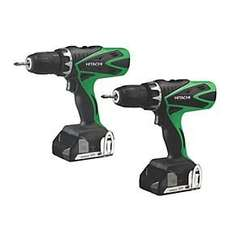 Hitachi Twin Pack Combi Drill & Drill Driver - Screwfix - £129.99