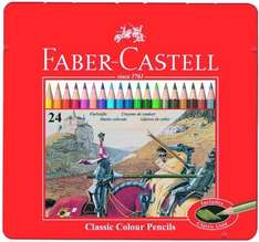 Back on - Faber-Castell Classic 24-Colour Pencils in Metal Tin Box £4.99 @ Amazon (down from £17.99) (Free delivery £10 spend/prime)