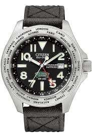 Citizen Men's Royal Marines Commando Super Tough GMT Titanium Eco-Drive Watch £180  @ ernest jones