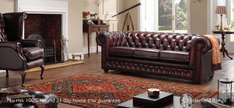Large three seater leather chesterfield sofa from sofasofa - £889 + £29 delivery = £918 delivered