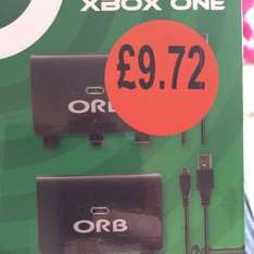 Xbox One Dual charge and play packs £9.72 @ Sainsbury's