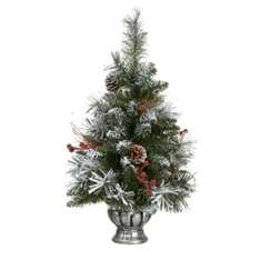2ft Pre-Decorated Flocked Christmas Tree £5.00 In-Store Or Add £5.00 Delivery @ B&Q