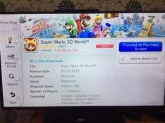 Super Mario 3D World £34.99 @ nintendo wii u E Shop