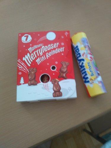 Maltesers MerryTeaser Mini Reindeer Box £1 / Milkybar Giant Tube 50p Instore @ Tesco