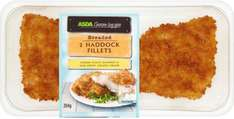 Breaded Haddock (54%) Fillets (2 per pack - 284g) from the ASDA Chosen by You range ONLY £1.68 @ Asda