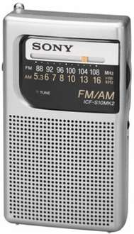 Sony Pocket Size Portable Am/Fm Radio With Built-In Speaker £10.59 @ amazon