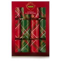 Asda Christmas crackers - 12 for £1 - online & in store