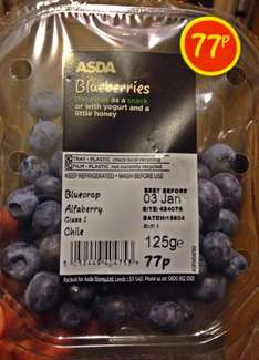 Asda Blueberries 125g in store 77p